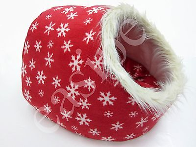 Cat Kitten Bed Igloo House Cave Pet Puppy Dog Snowflake Design Large Easipet