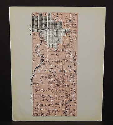 Indiana Tipton County Map Pipe Creek Township 1928 Y14#18