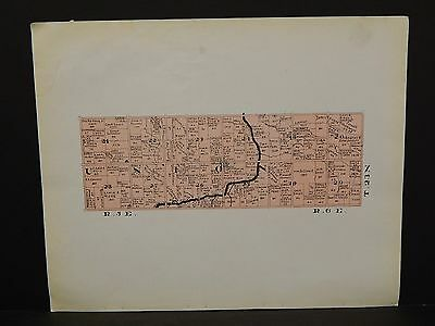 Indiana Tipton County Map Union Township 1928 Y14#24
