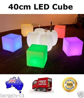 40cm LED Cube Furniture/Stool/Seat for Party, Indoor/Outdoor Home or Events