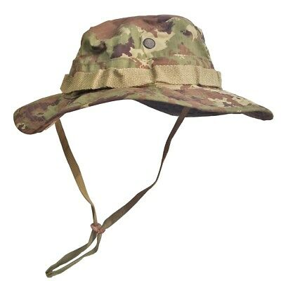 Cappello Militare Mimetico Vegetato Italiano Jungle Bonnie Hat Taglia S e94a7fbe6549