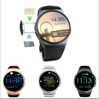 KW18 Round Dial Smart Watch Phone Pedometer Heart Rate Monitor for IOS Android