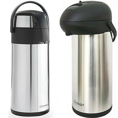 Hot Cold Airpot Flask Thermos Tea Coffee Drink S/s Pump Action Vacuum 5 Size New