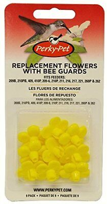 Perky-Pet 202FB Replacement Yellow Feeder Flowers With Bee Guards