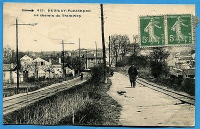 CPA: NEUILLY-PLAISANCE - Le Chemin du Tramway
