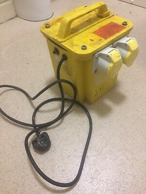 3KVA Site Yellow Builders Transformer Twin 16 AMP 110v Socket/Outlet