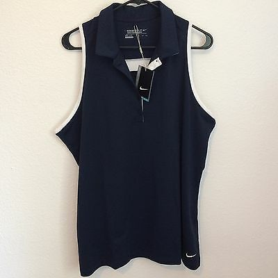 NIKE GOLF TOUR WOMEN'S DRI-FIT PERFORMANCE POLO XL Sleeveless Shirt $55 NWT
