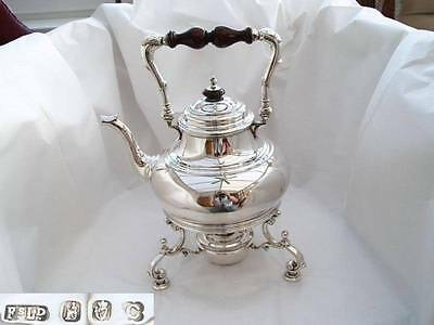RARE IRISH HM STERLING SILVER SPIRIT KETTLE 1918 71 oz