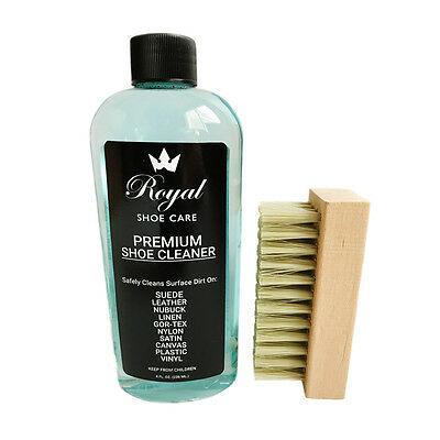 Royal Premium Shoe Cleaner Kit Shoe Cleaning kit 8oz With Brush Leather suede