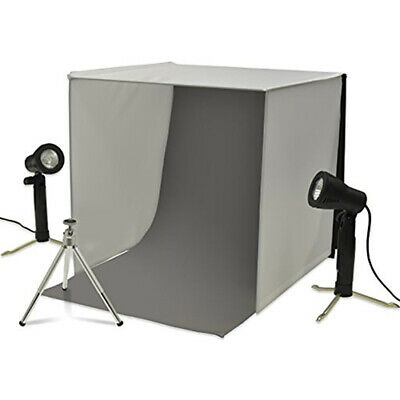 New! Xit XTPS101 Portable Photo Studio Lighting Kit For Jewelry Electronics