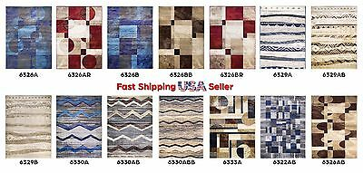 Modern Abstract Geometric Stain Fade Resistant Easy Clean Soft Area Rugs 5x7