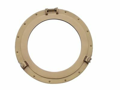 Deluxe Class Antique Brass Porthole Window 24""