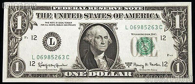 1 Dollar Federal Reserve Note 2013