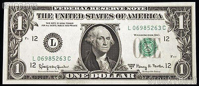 1 Dollar Federal Reserve Note 2009