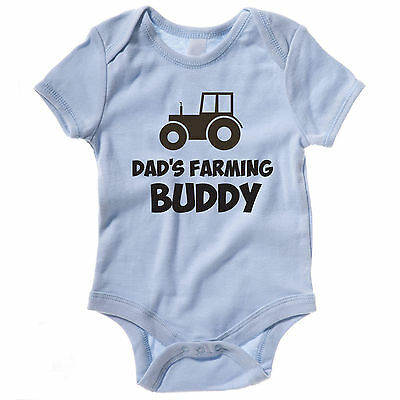 Funny Baby Grow / Vest - DAD'S FARMING BUDDY - Body Suit / Clothes / Farmer