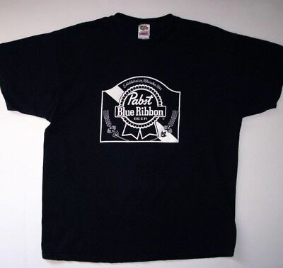 Pabst Blue Ribbon PBR Vintage Beer Soft Tee Black Hipster Retro 1844 Small
