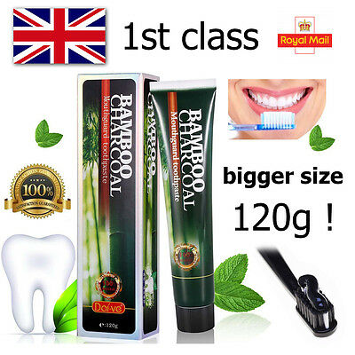 Dai-Ve ® Black Whitening Toothpaste Activated Bamboo Charcoal and Aloe Vera 120g