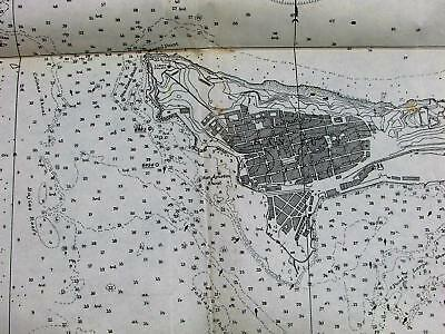 San Juan Harbor Porto Puerto Rico 1899 USCGS large detailed antique nautical map