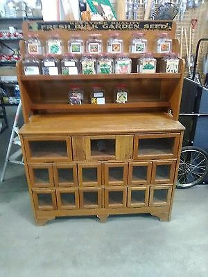"Vintage 1950's Seed Cabinet, 45""x17""x62"" Used but in great condition!!!!"