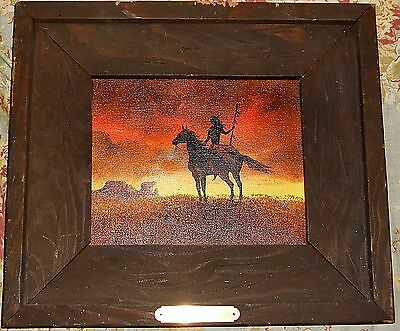 1976 Mary H. Kimmel Original Signed Oil~The Scout~Native American On Horse