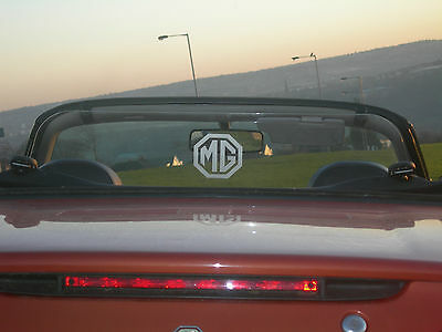 MG MGF MGTF CLEAR WIND DEFLECTOR, no drilling fits in minutes, free  logo