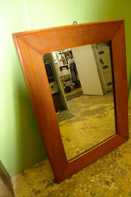 Hanging Wall Mirror in Heavy Wood Frame