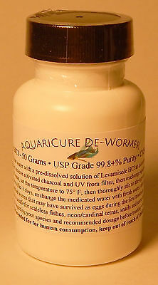 50 Grams Pure Levamisole HCl Powder Fish & Aquarium De-Wormer Parasite Medicine