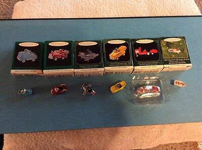 Lot Of (6) Hallmark Keepsake Miniature Kiddie Car Ornaments