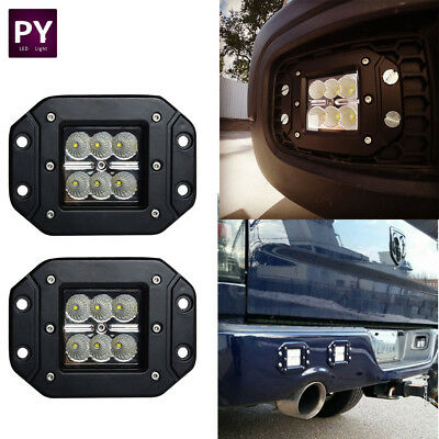 """2X 18W 4"""" Iinch Push Mount Pods LED Work Light Flood Cube Offroad Pick-UP Ppds"""