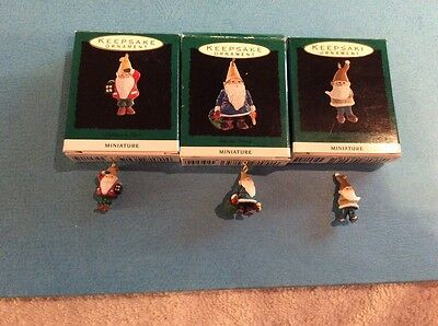 1993`Miniature Elves Hallmark Christmas Tree Ornaments - (3)