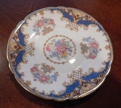"""Shelley """"Sheraton Blue"""" Pattern 13291 Gravy Boat Underplate Only Made  England"""