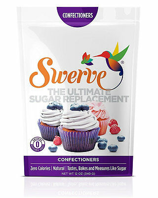 Swerve, Sugar Free Sweetener, Sugar Replacement, 12 oz (340grams), Confectioners