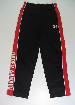 UNDER ARMOUR black red logo athletic PANTS boys 5