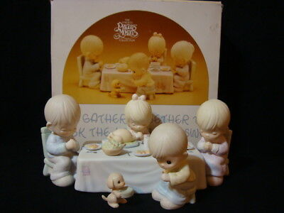 t Precious Moments-7 Piece Thanksgiving Family Dinner Set-$355V-Flame Mark