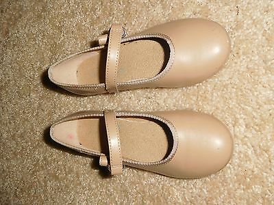 American Ballet Theater Spotlights Girls Tan Tap Shoes Size 9 1/2 Free Shipping