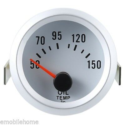 "2""52mm Oil Temperature Temp Meter Gauge With Sensor for 12v Car Truck motorcycle"