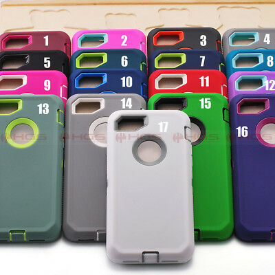 10/Lot Case for Apple iPhone 7 Shockproof Rugged Built in Screen Film Skin Cover