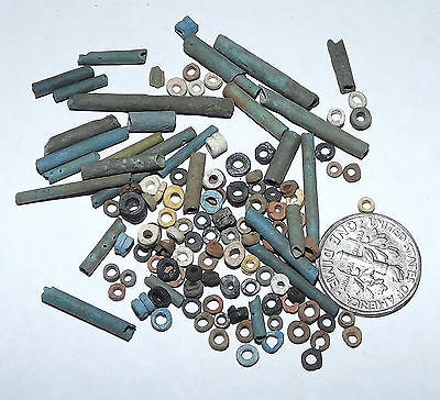 More than a Hundred 2500 Year old Ancient Egyptian Faience Mummy Beads (#G1623)