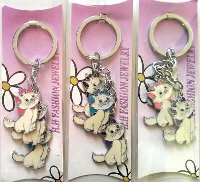 Bulk Lot x 5 Mixed 3 Dangling Kittens Keyrings Girls Ladies Party Favors Gifts