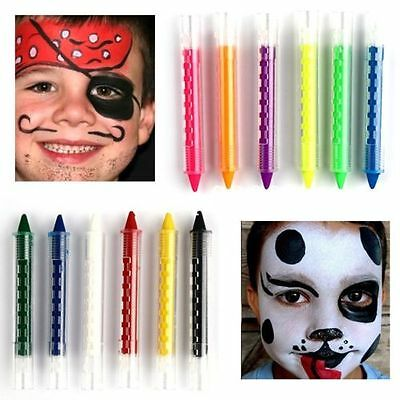 Kid Fun Face Body Paint fluorescence Color Crayon Halloween Party Dress up Stick