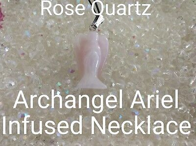 00622 Rose Quartz Archangel Infused Necklace Doreen Virtue Certified Practitione