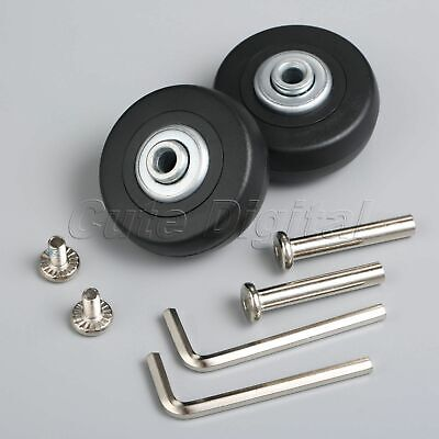 2 Set Luggage Suitcase Replacement Wheels Axles Rubber Deluxe Repair Kit OD 50mm