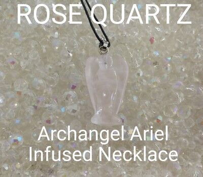 00624 Rose Quartz Archangel Infused Necklace Doreen Virtue Certified Practitione