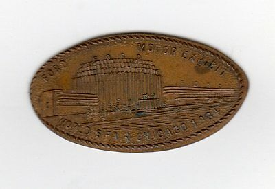 Chicago, IL  Century of Progress Expo Ford Elongated Cent  1934