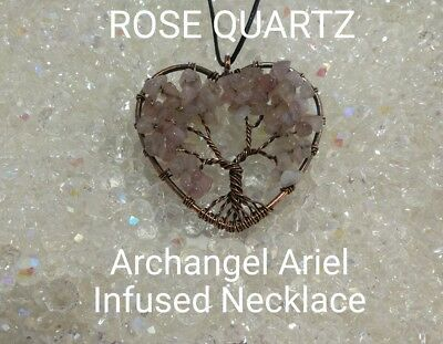 00627 Rose Quartz Archangel Infused Necklace Doreen Virtue Certified Practitione