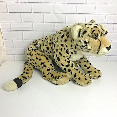 "FAO Schwarz Cheetah Plush Leopard Cat 20"" Stuffed Animal Toy"