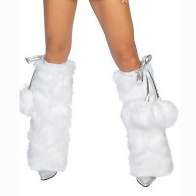 HIGH Fashion Winter Faux Fur Christmas Fluffies Leg Warmers Furry Boots Covers