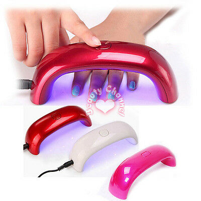 Professional 9W Rainbow UV LED Nail Lamp Dryer Light for Gel Tips Nail Art UK