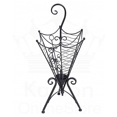 Classic Black Metal Umbrella Holder Stand Home Office Decoration Gift Vintage