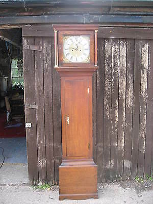 Small Antique Oak Longcase Clock Circa 1790 Thomas Baker Portsmouth Superb /3921
